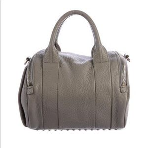 Alexander Wang Rockie Duffel Bag- Oyster Grey
